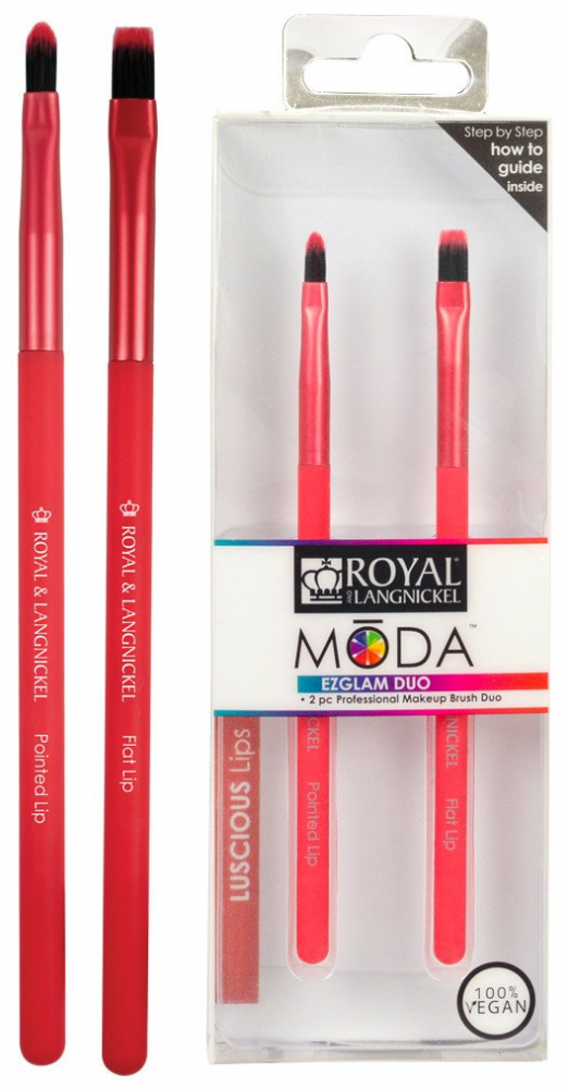 Royal Langnickel Moda EZGLAM DUO Luscious Lips Brush